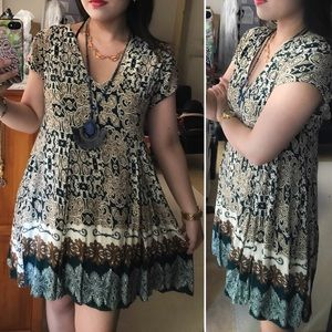 🆕Boho print flare dress/tunic